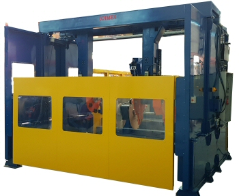 Gantry type coiling machines